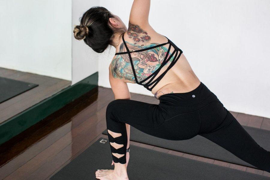 Ashley in Qi Flow Bra & Black Bow Legging