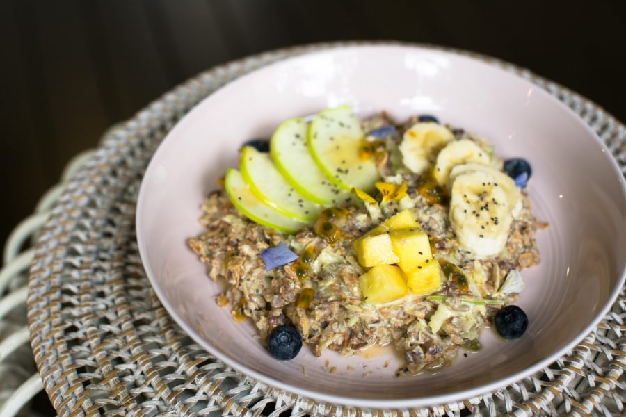Tropical Bircher Muesli | Rolled oats with mango, passion fruit and coconut.