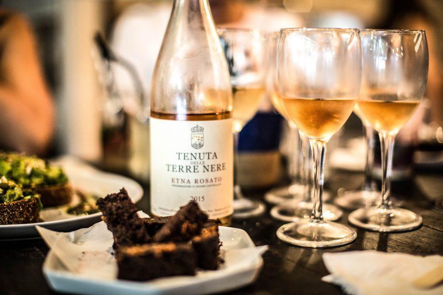 "Tenuta Delleterre Nere ""Etna Rosato"" Rosé Italy | bright and vibrant, with notes of pear, orange, almond flowers and minerals"