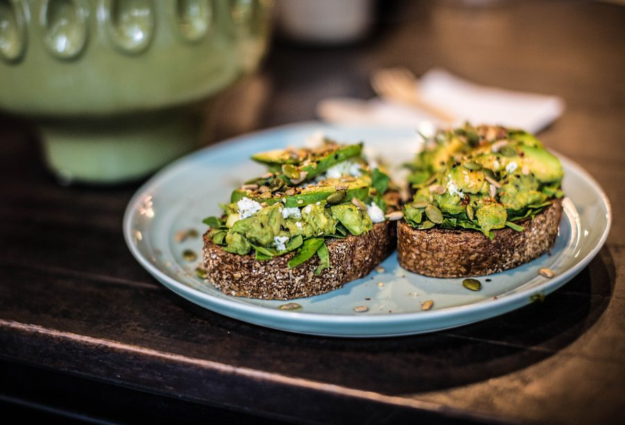 Avocado Toast | pesto, baby spinach and dill infused feta