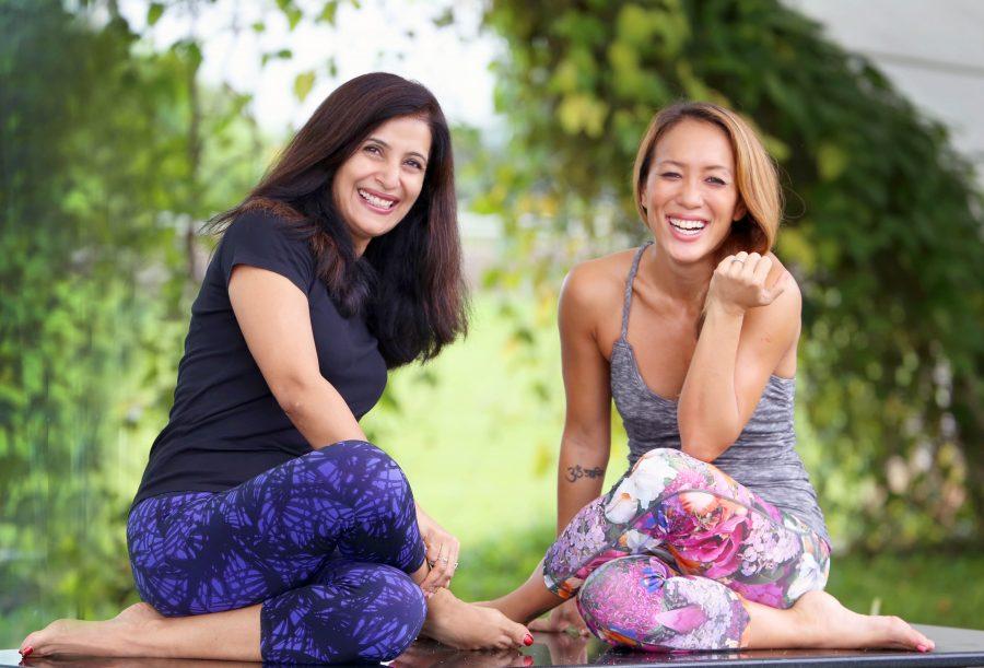Kavita and Alicia hanging at the shoot!